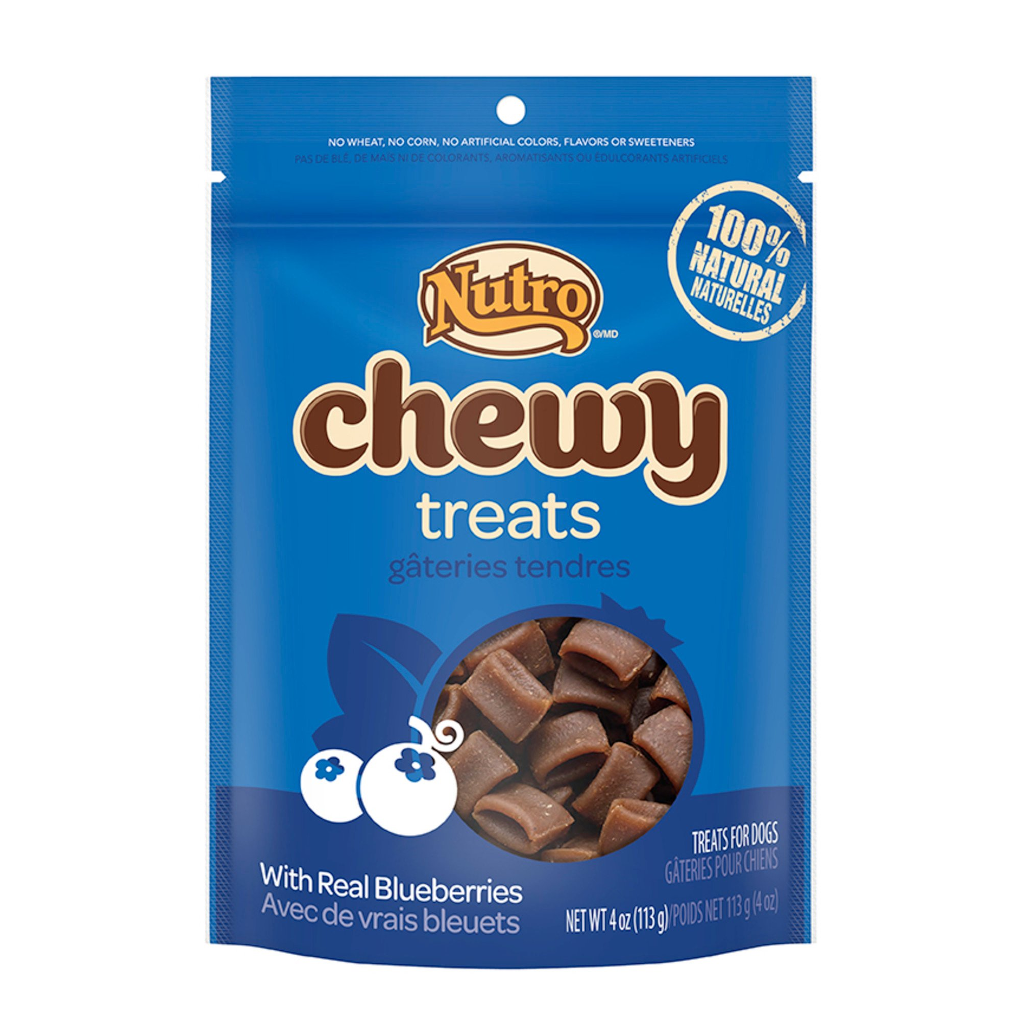 Nutro Chewy Dog Treats with Real Blueberries