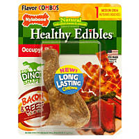 Nylabone Healthy Edibles Bacon & Beef Flavor Combo Dinosaur Dog Chews