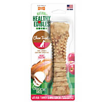 Nylabone Healthy Edibles Turkey & Apple Flavor Combo Dog Bone Chews