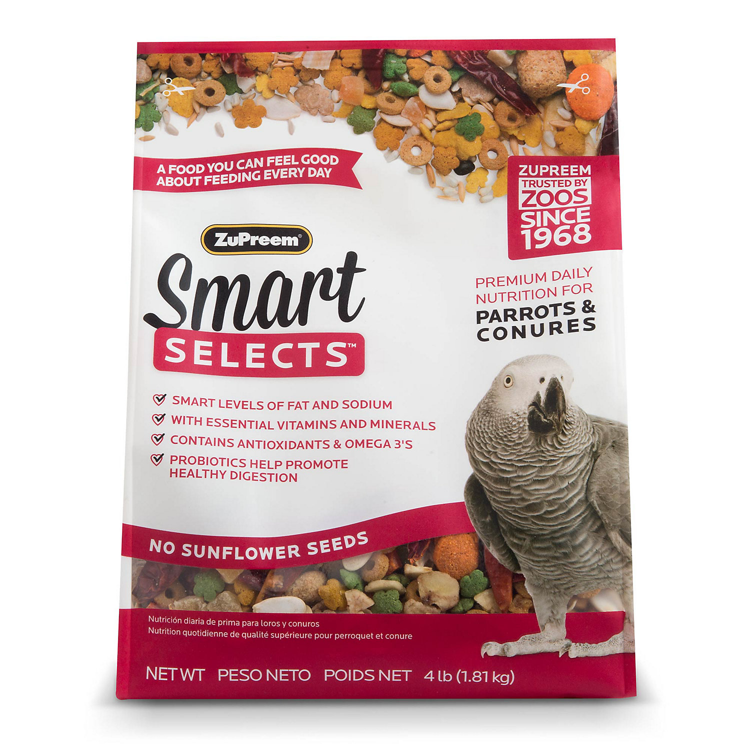ZuPreem Smart Selects Blend Parrots and Conures, 4lbs