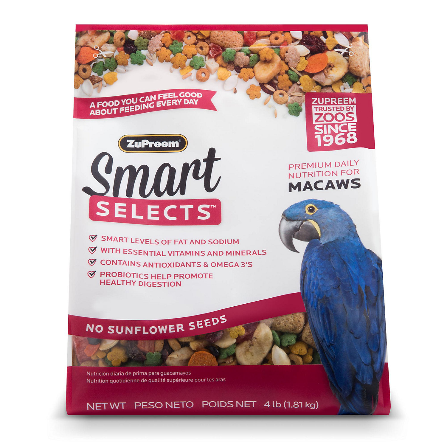 ZuPreem Smart Selects Blend Macaws, 4lbs
