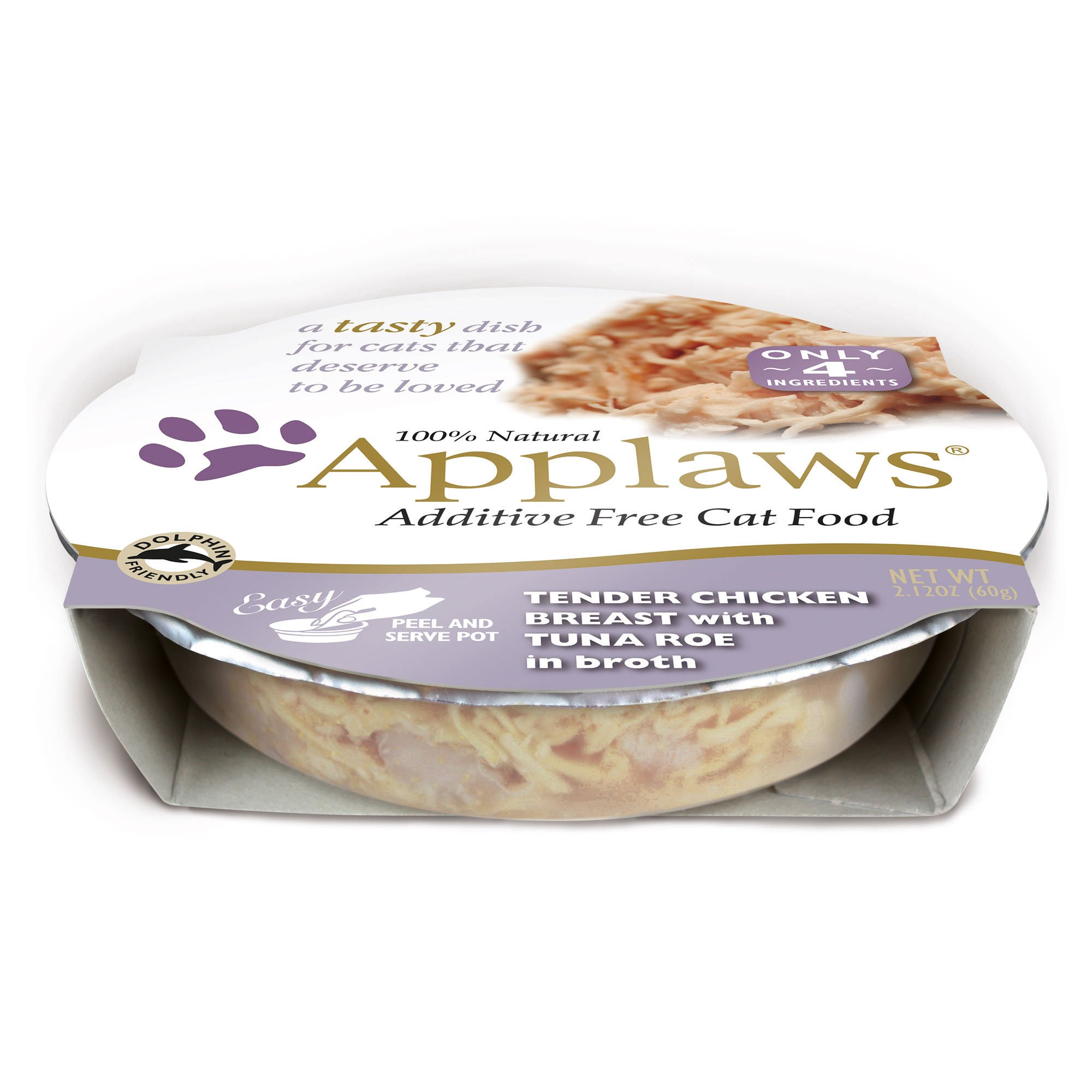 Applaws Chicken Breast with Tuna Roe Peel & Serve Pot Cat Food