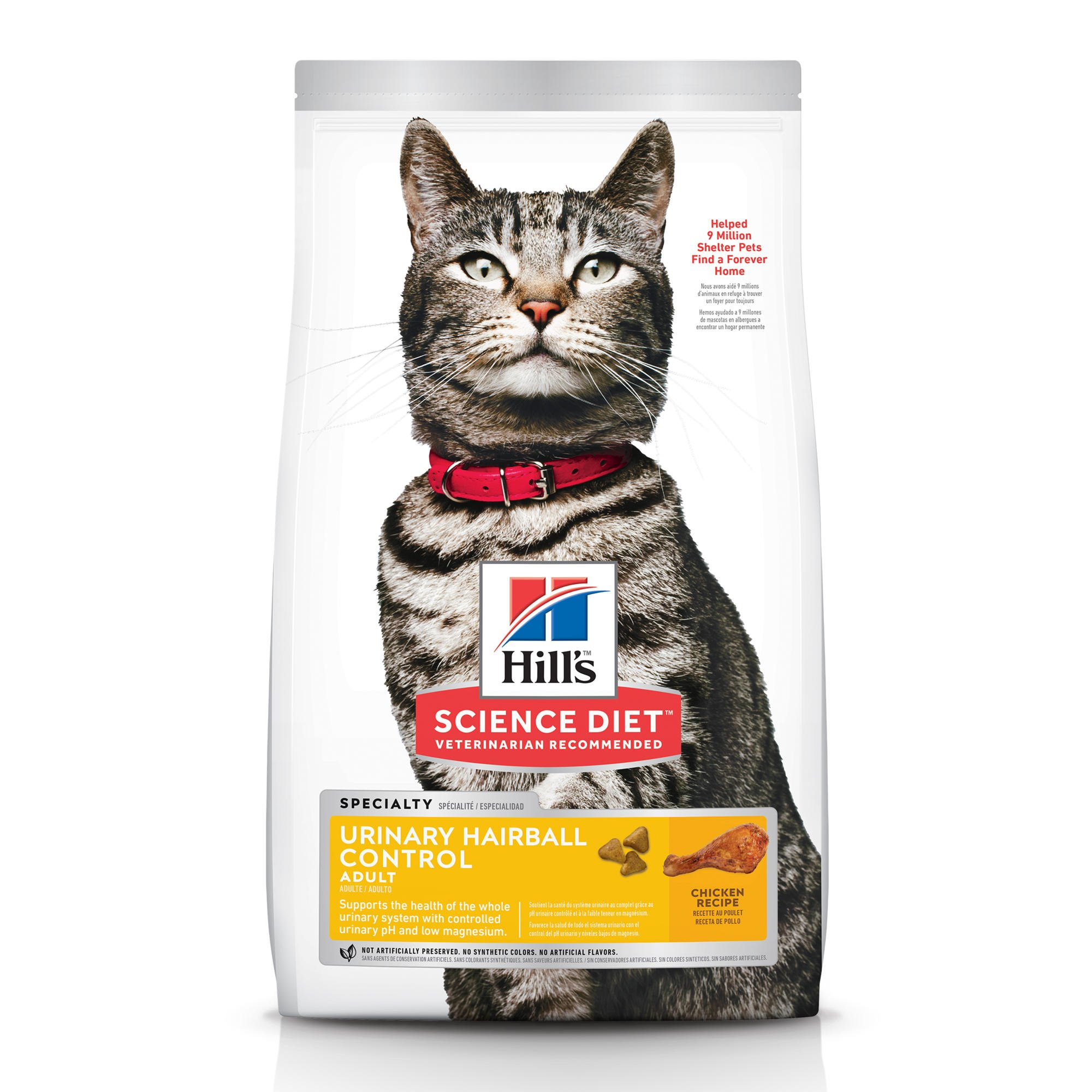 Hill S Science Diet Urinary Hairball Control Adult Cat Food Chicken