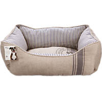 You & Me Paw Print Canvas Dog Bed