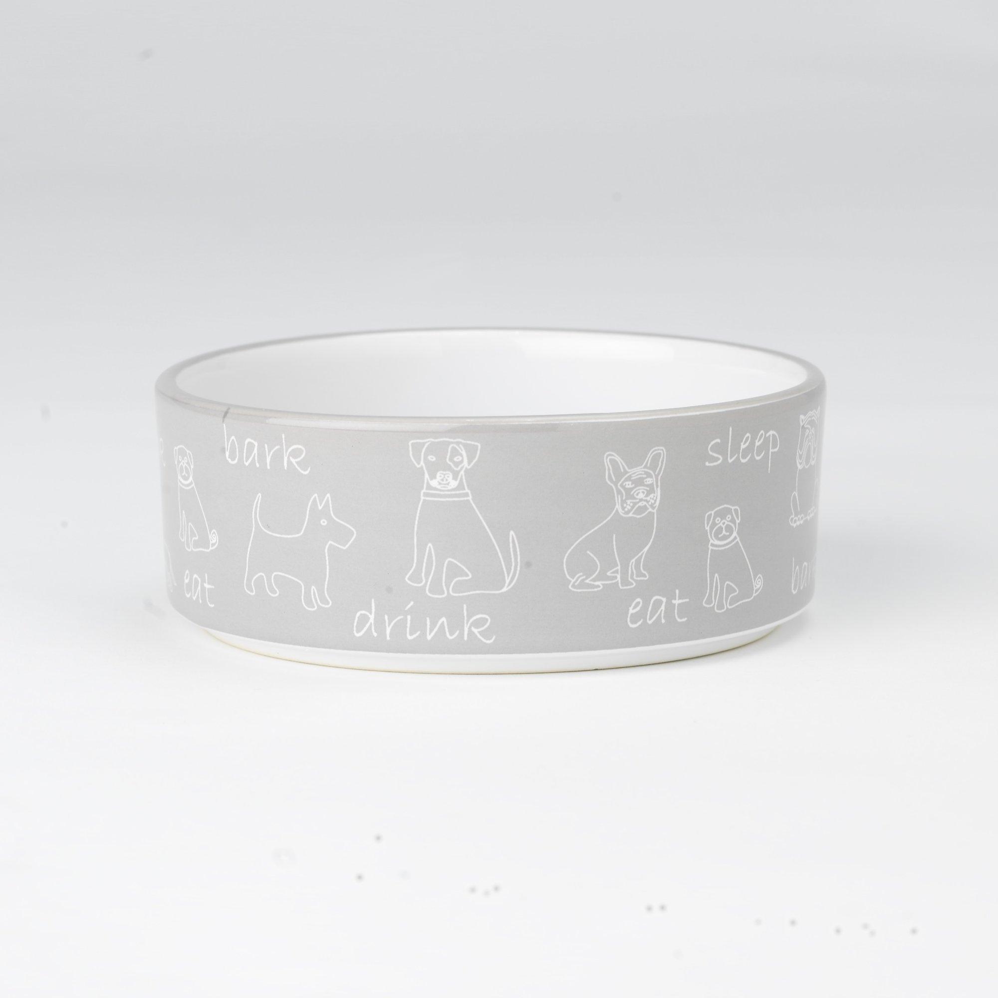 Petrageous Designs Playful Pet Dark Bark Dog Bowl