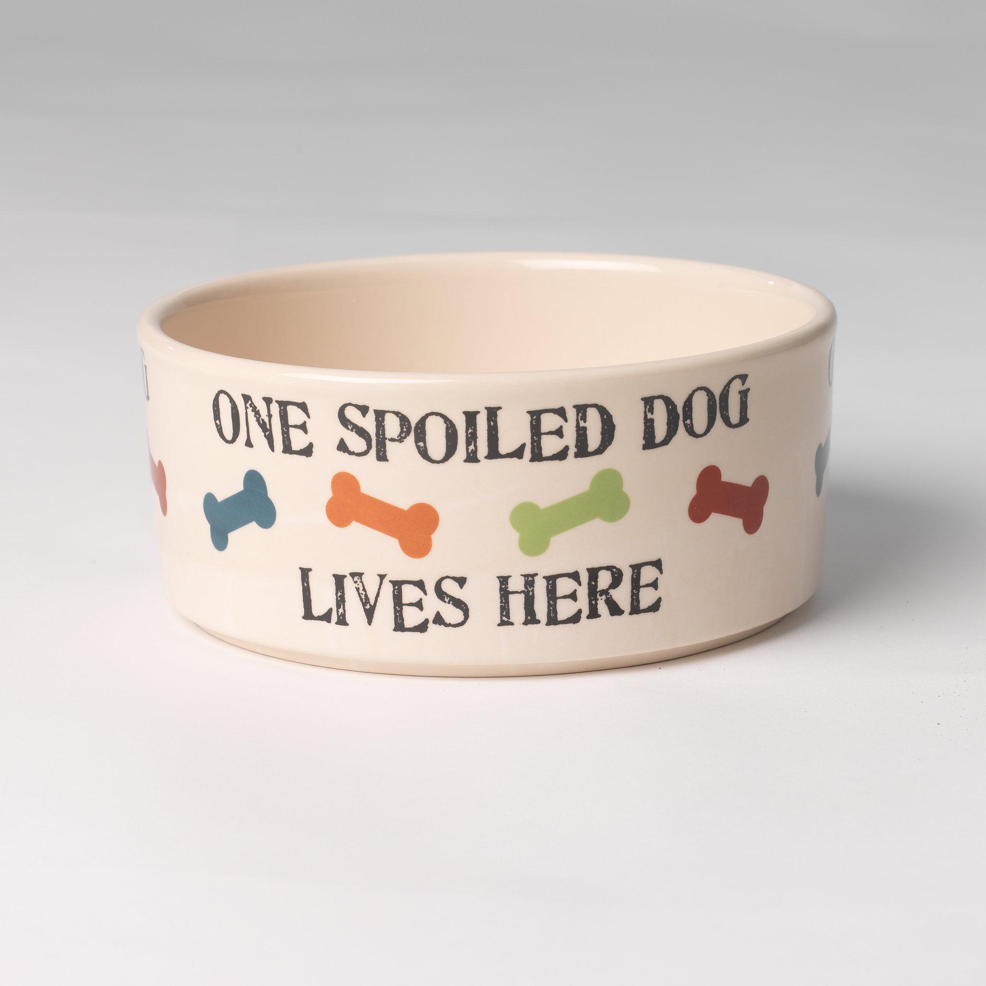 Petrageous Designs Spoiled Dog Dog Bowl