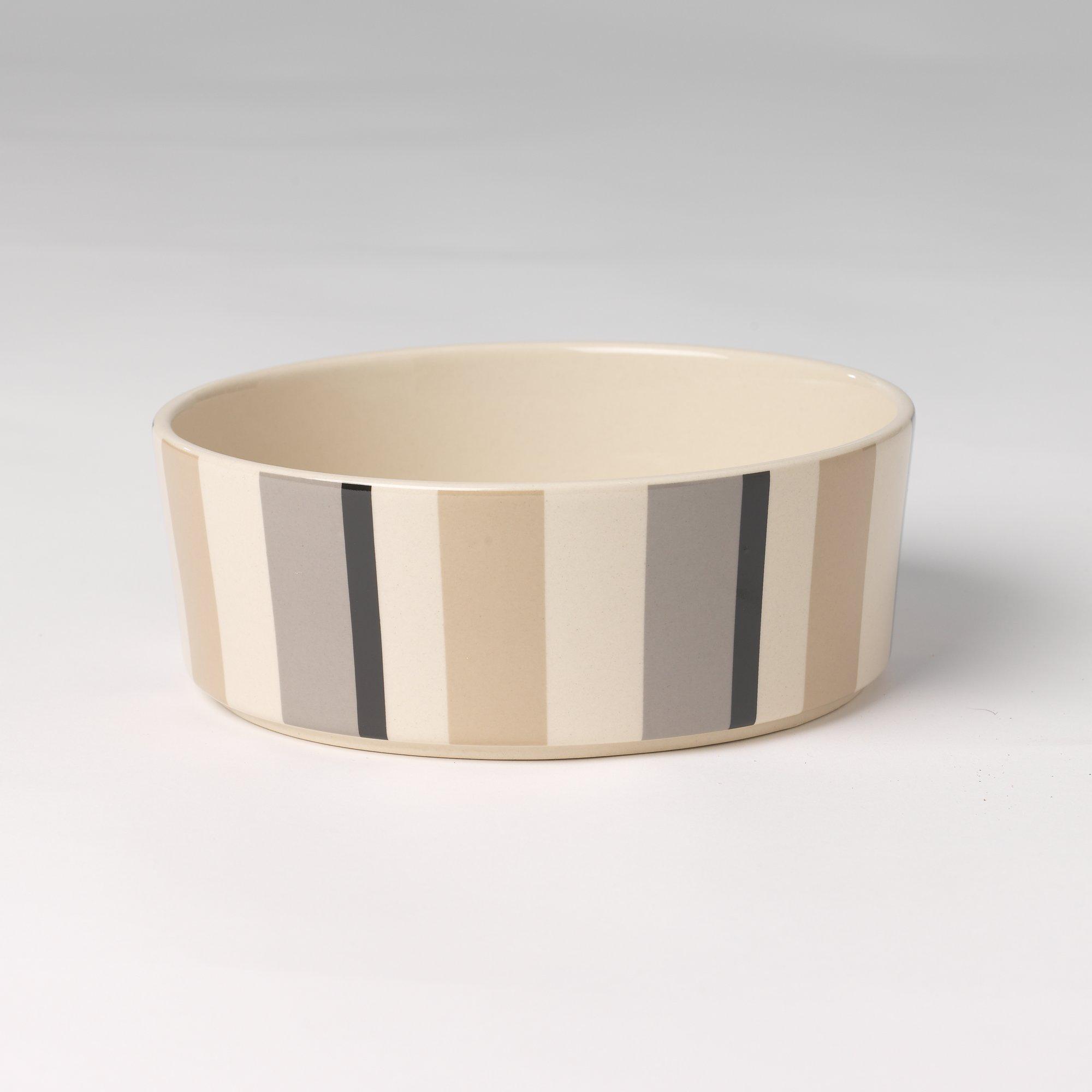 Petrageous Designs Stripes Slow Feed Dog Bowl