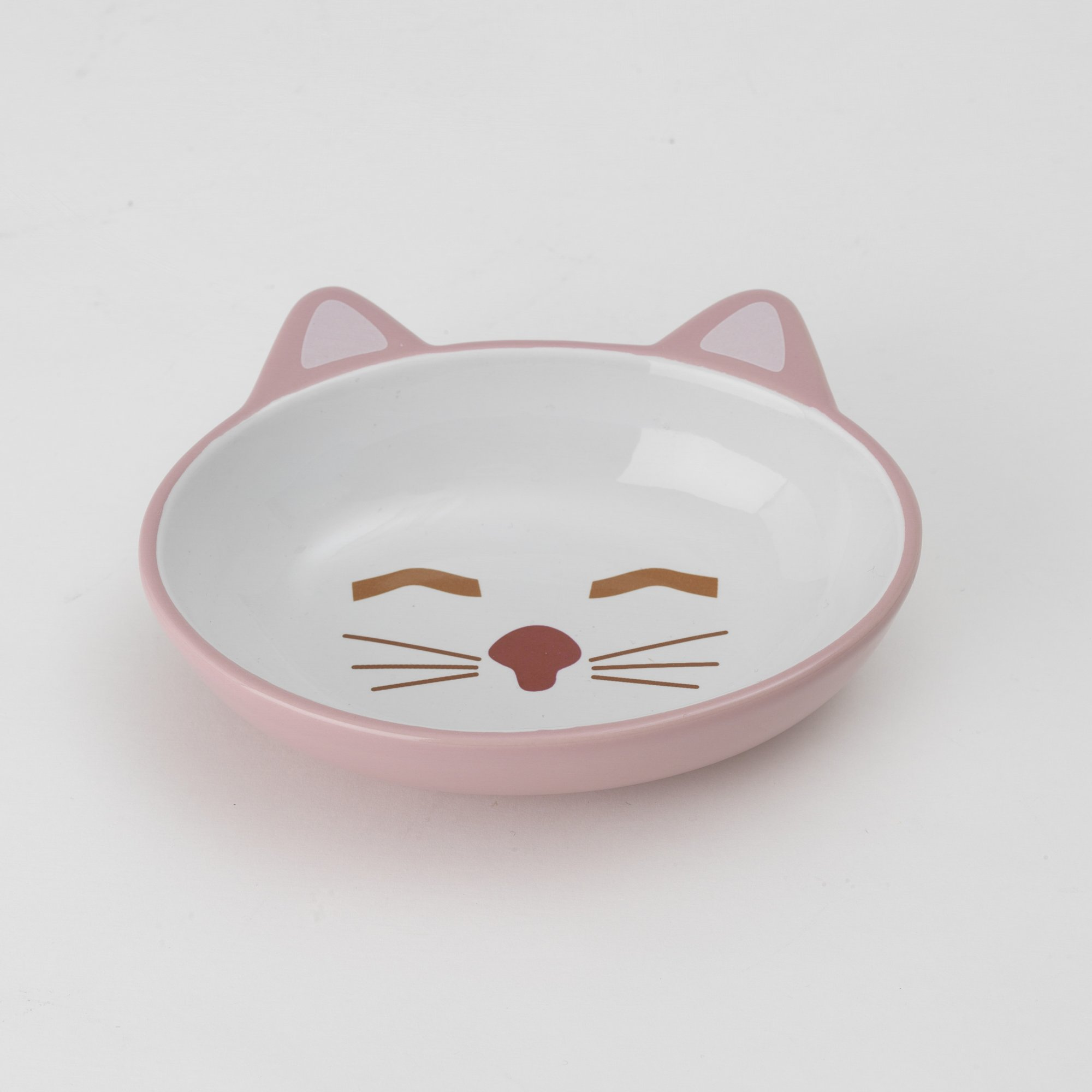Petrageous Designs Sleepy Kitty Pink Cat Bowl