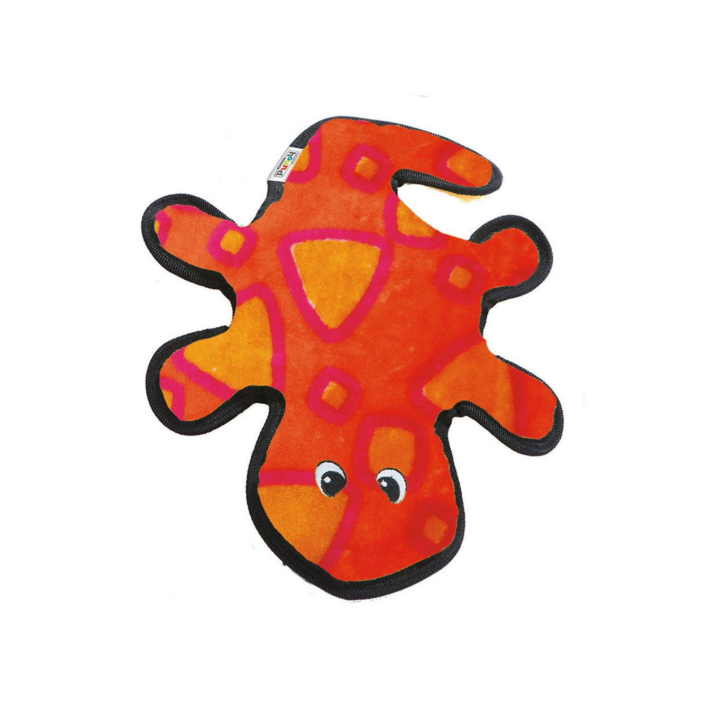 Outward Hound Invincible Red Orange Gecko Dog Toy 14 L X 9.5 W X 2 H Multi Color