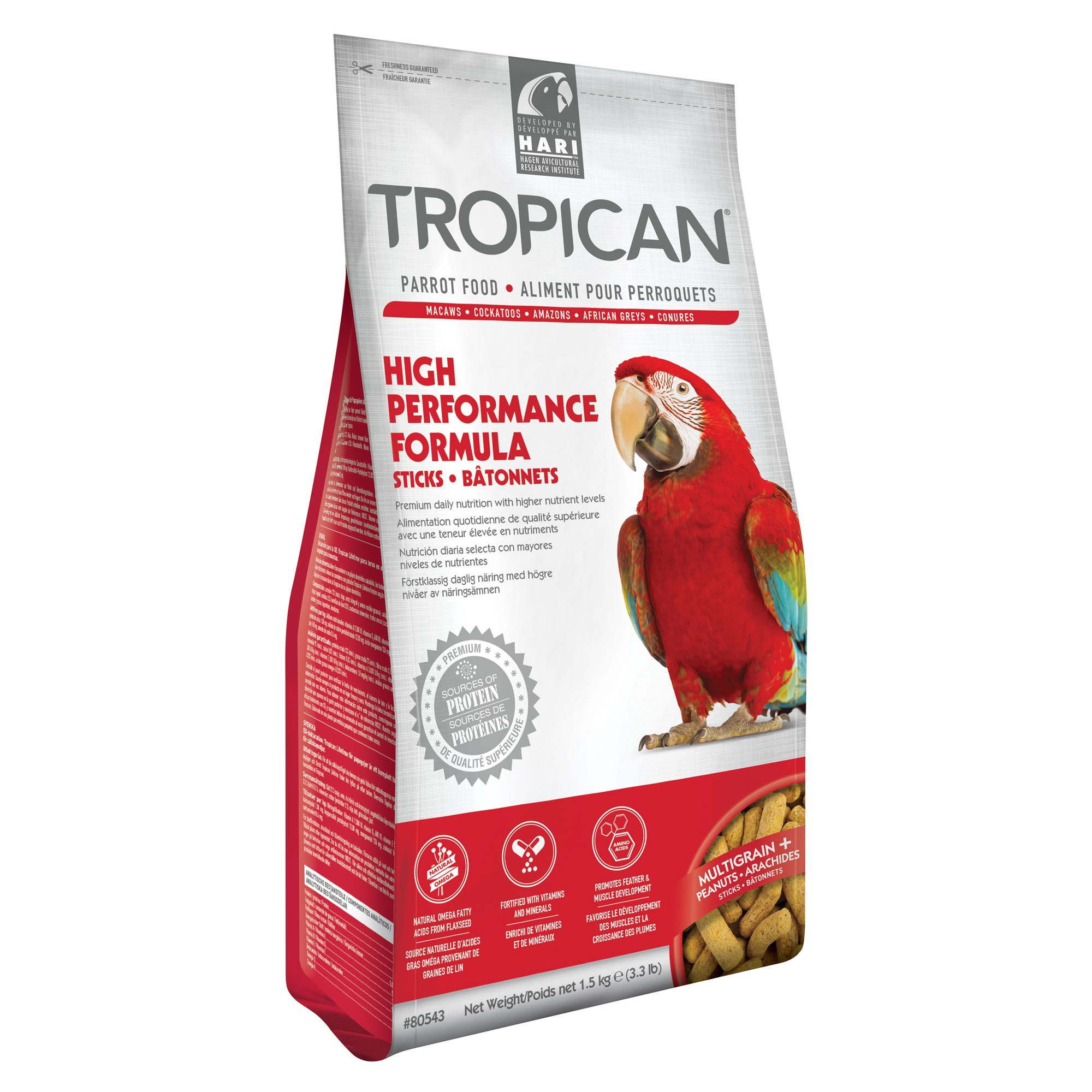 Tropican High Performance Sticks, Parrot