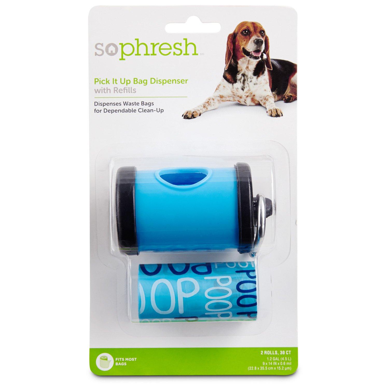 So Phresh Pick It Up Blue Dog Bag Dispenser with Refill