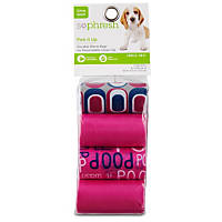So Phresh Pick It Up Print Scented Dog Waste Bags, Pink