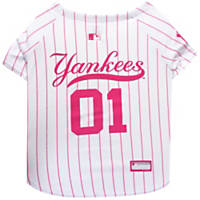 Pets First Pink New York Yankees Jersey