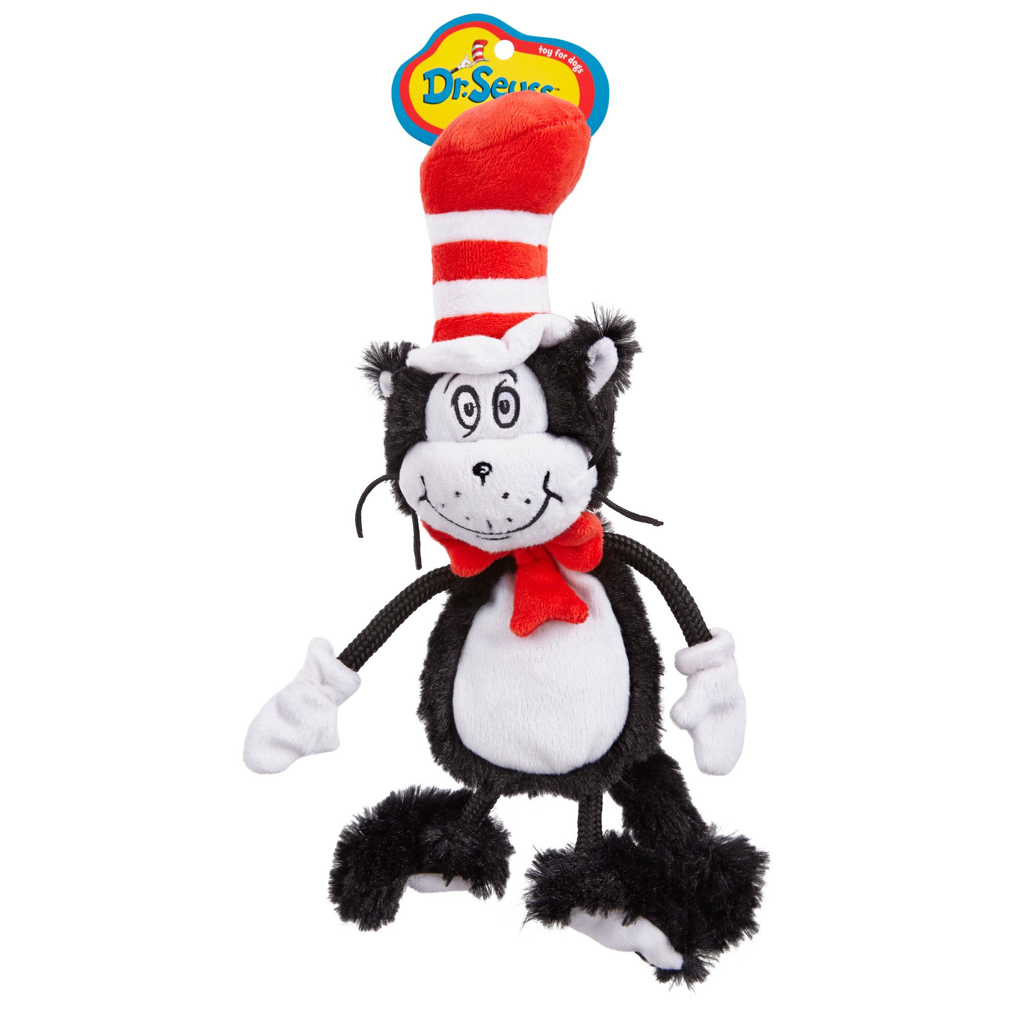 Dr. Seuss Cat In the Hat Flat Dog Toy