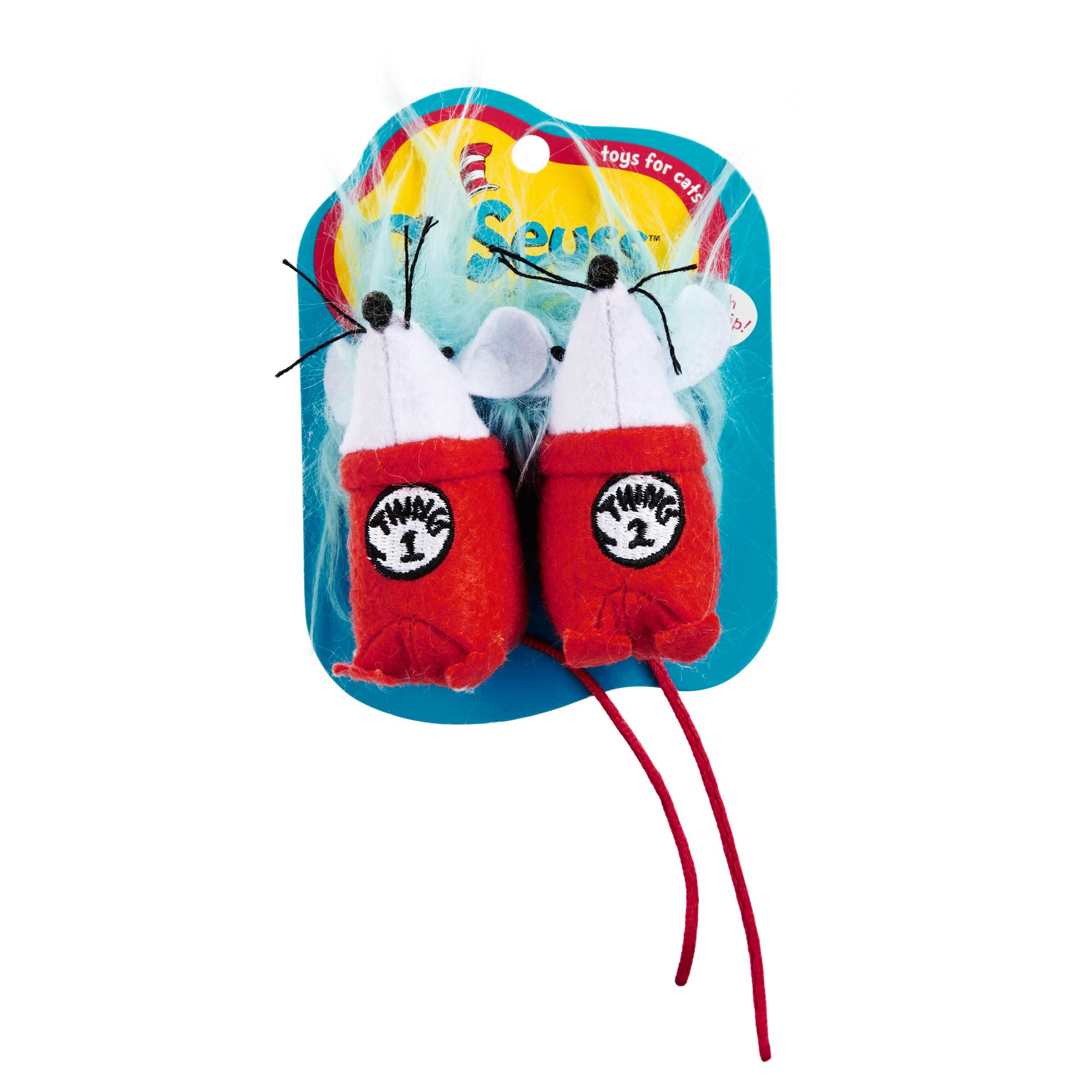 Dr. Seuss Thing 1 & Thing 2 Cat Toy