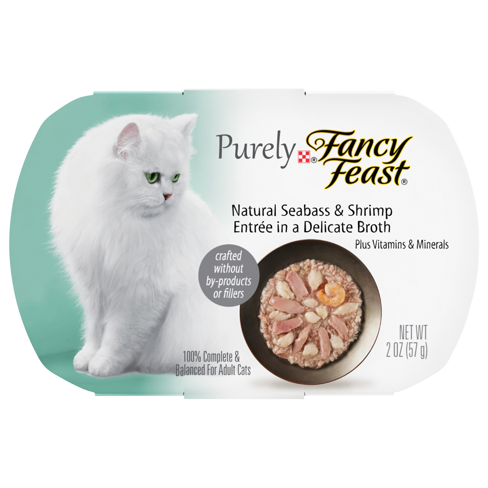 Fancy Feast Purely Seabass & Shrimp Adult Cat Food Trays