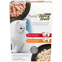 Fancy Feast Purely Adult Cat Food Trays Variety Pack