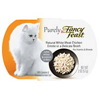 Fancy Feast Purely Chicken Adult Cat Food Trays