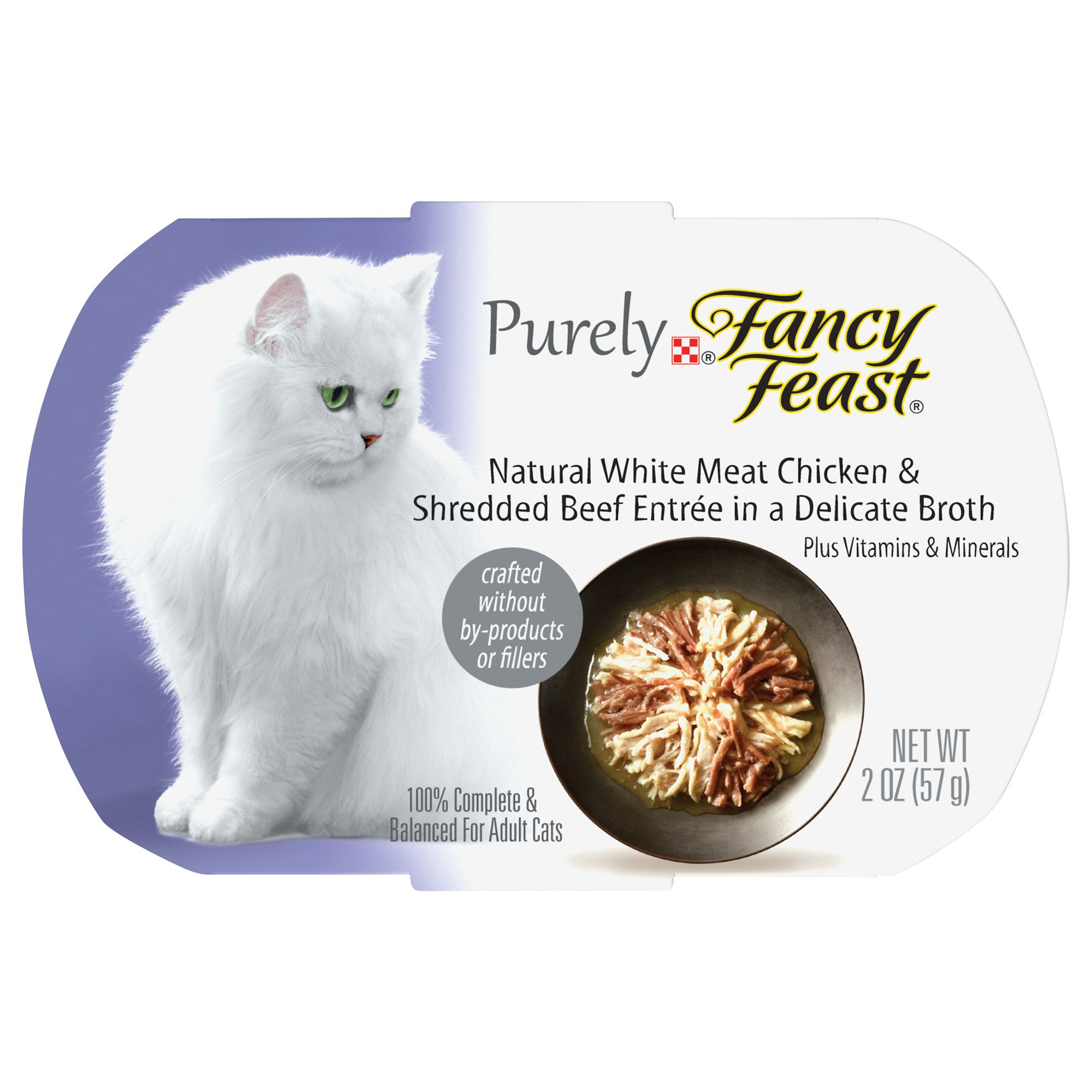 Fancy Feast Purely Chicken & Beef Adult Cat Food Trays