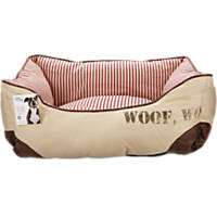 You & Me Red Woof Dog Bed