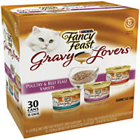 Fancy Feast Gravy Lovers Poultry & Beef Feast Variety Pack Adult Canned Cat Food
