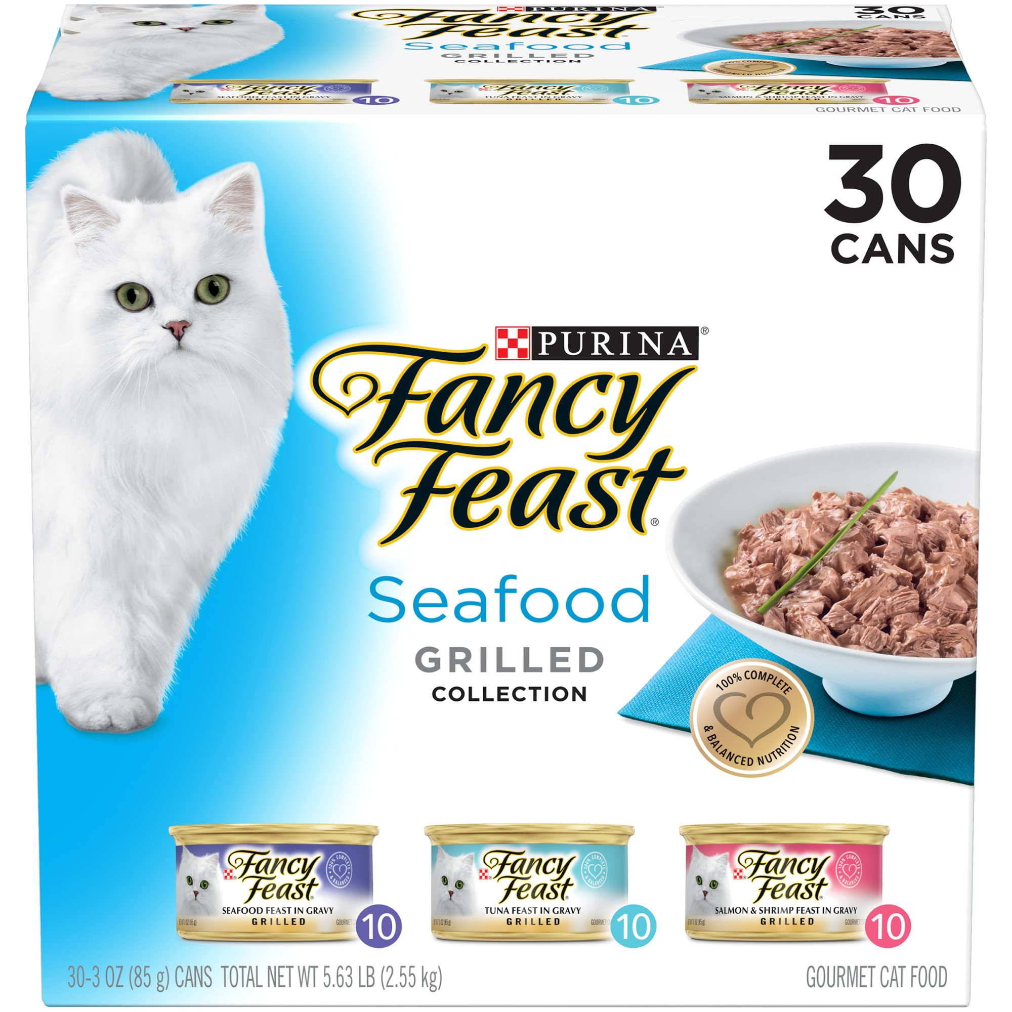Fancy Feast Seafood Feast Grilled Variety Pack Adult Canned Cat Food in Gravy