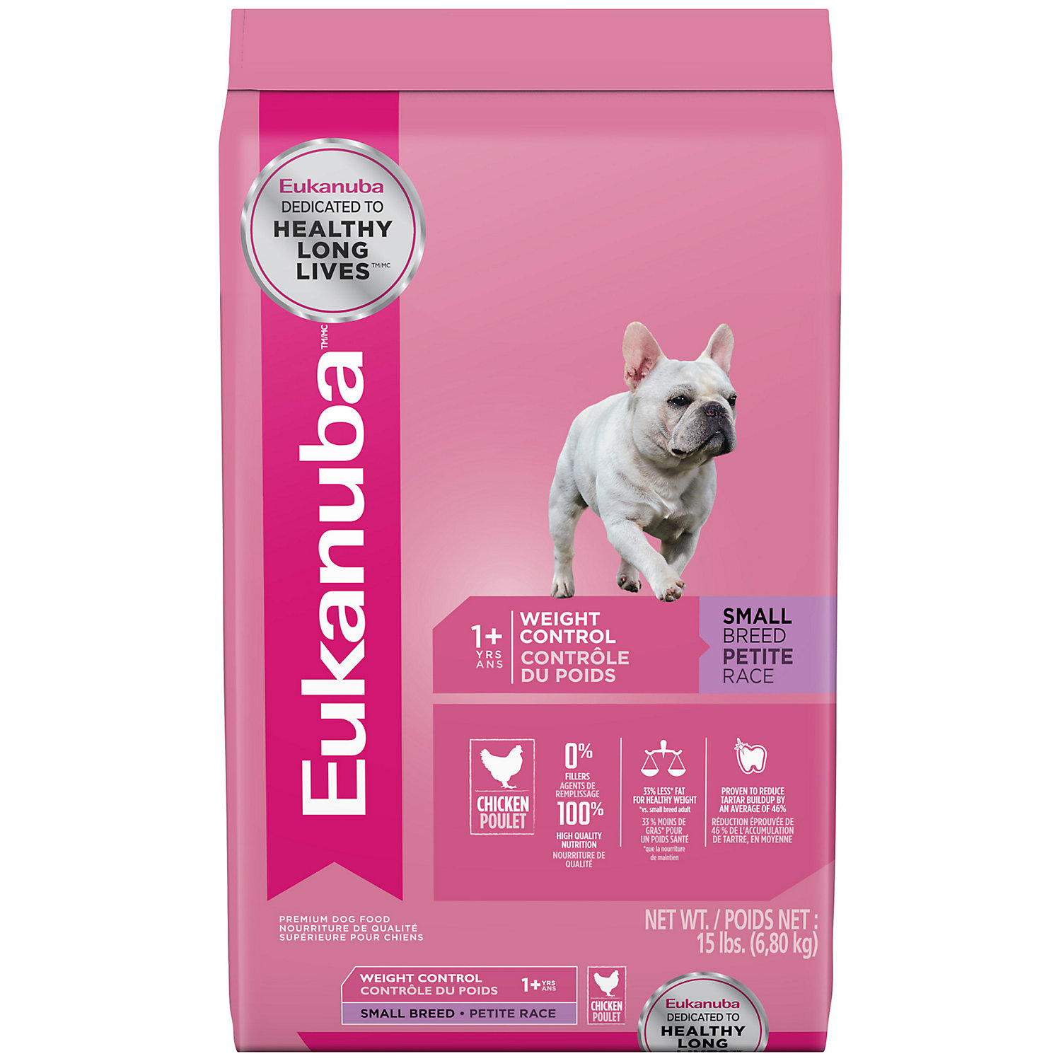 Eukanuba Small Breed Weight Control Adult Dog Food, 15 lbs.