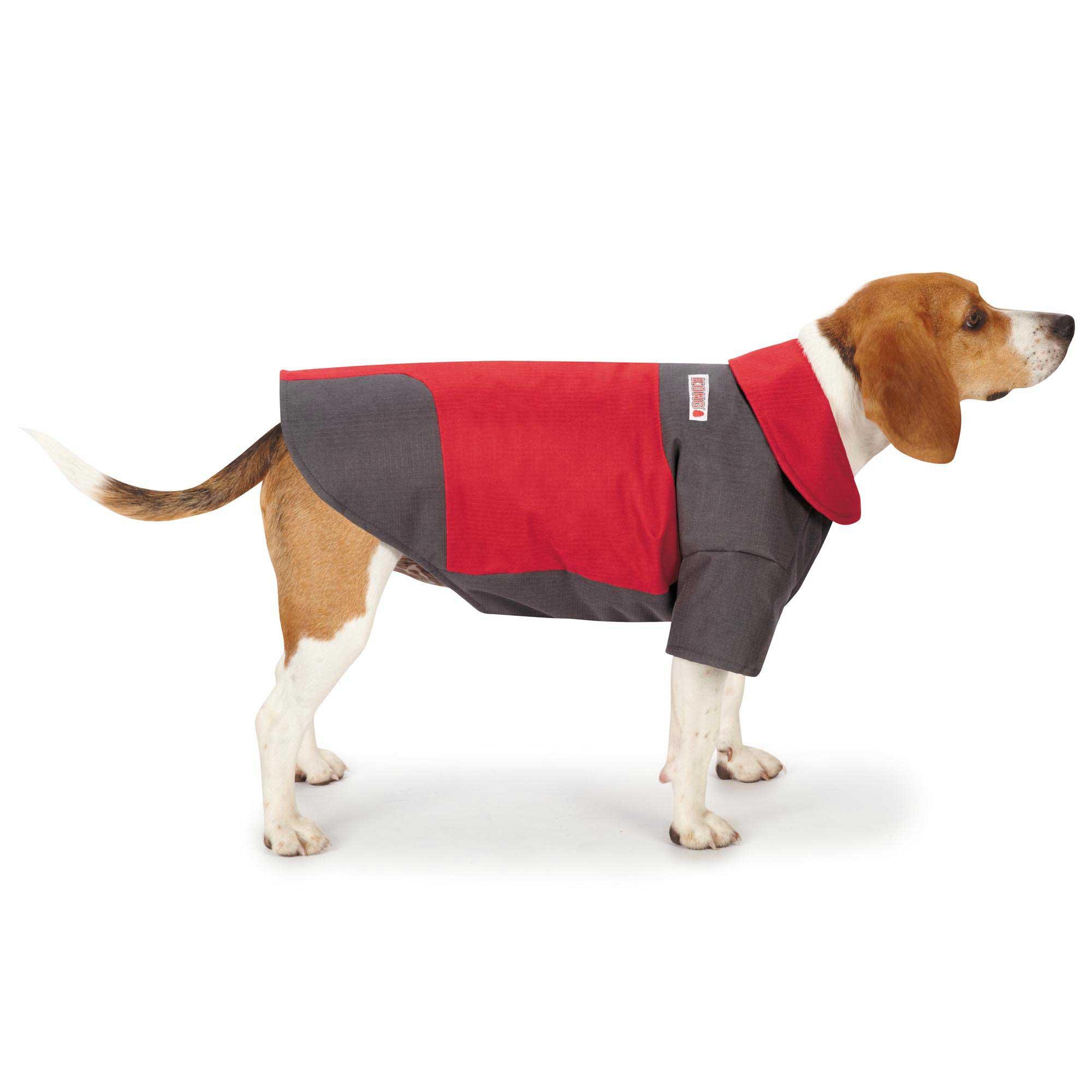 KONG Color Block Red & Gray Dog Coat