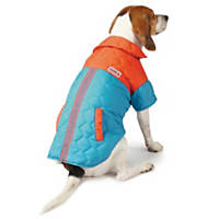KONG Quilted LED Puffy Blue Dog Coat