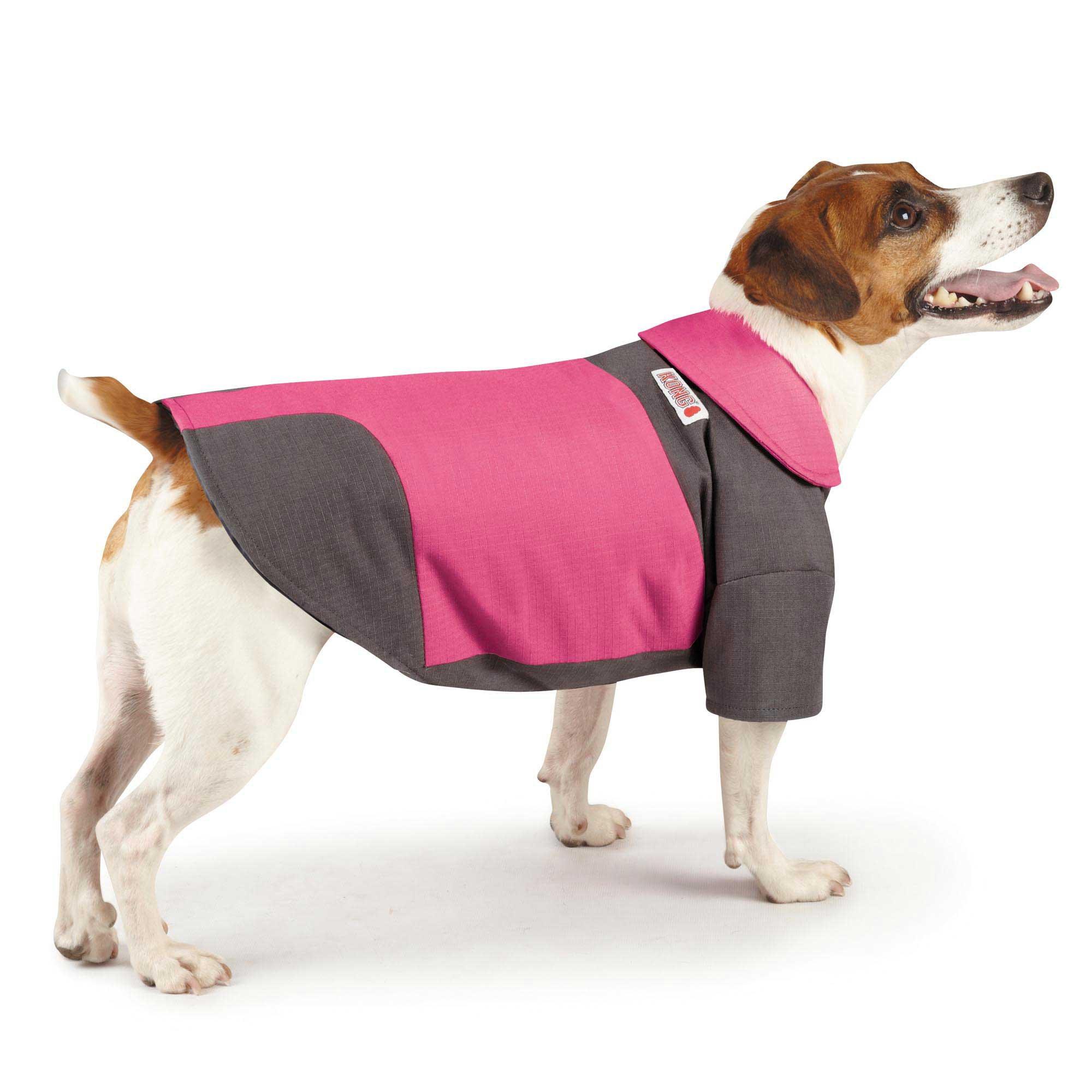 KONG Color Block Pink & Gray Dog Coat