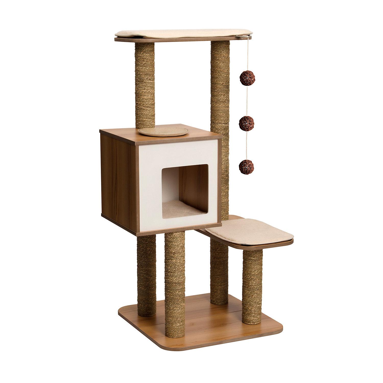 Vesper Cat Furniture V High Base White / Tan