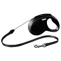 Flexi Black Classic Cord Retractable Dog Leash
