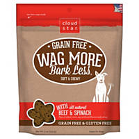 Cloud Star Wag More Bark Less Grain Free Soft & Chewy Beef & Spinach Dog Treats