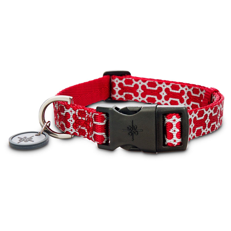 Good2Go Reflective Red Bone Comfort Dog Collar