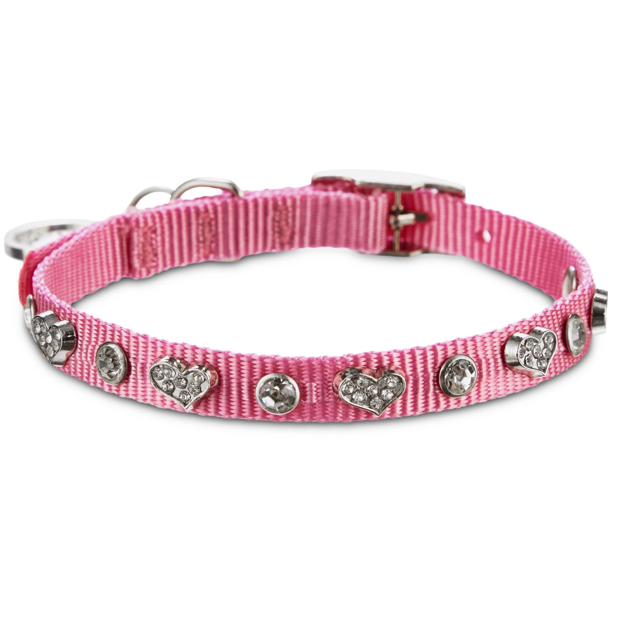 Bond & Co. Pink Heart Bling Collar