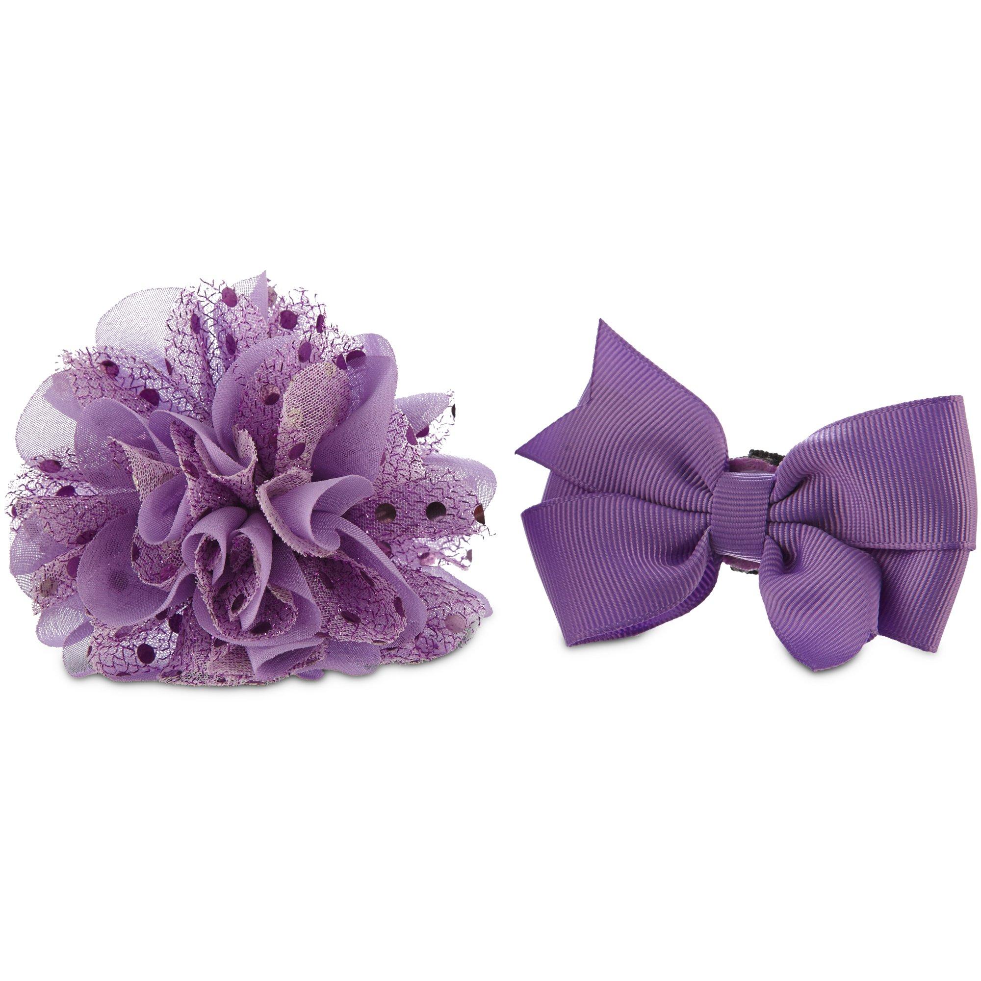 Bond & Co. Purple Bow Flower 2 Pack