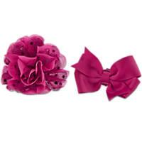 Bond & Co. Pink Flower Bow 2 Pack