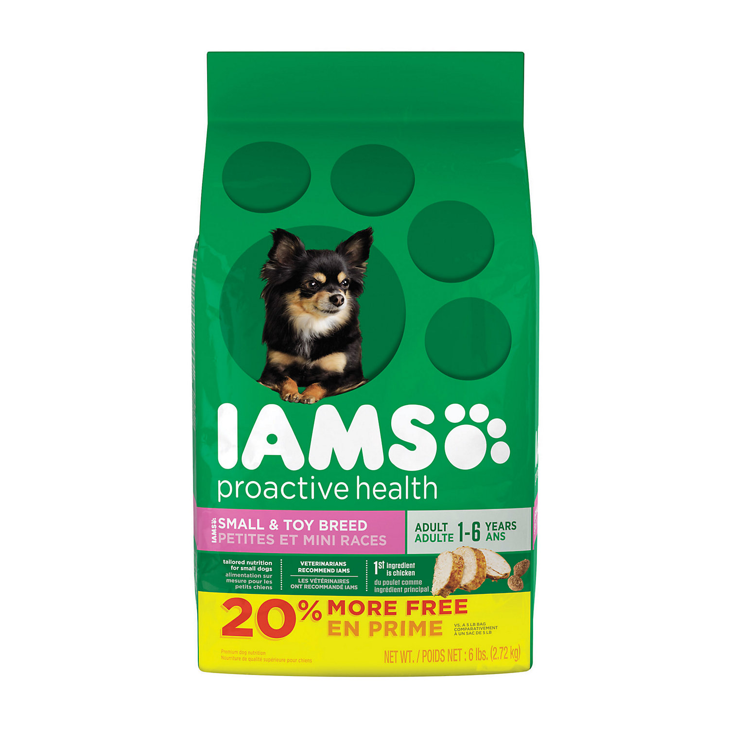 Iams ProActive Health Small & Toy Adult Dog Food, 6 lbs.