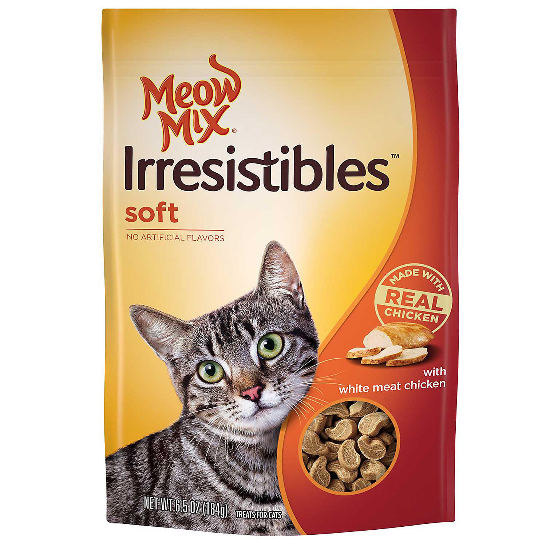 Meow Mix Irresistibles Chicken Soft Cat Treats, 6.5 oz