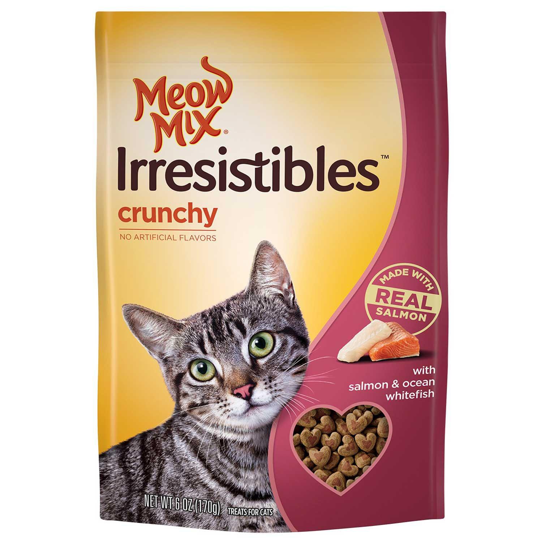 Meow Mix Irresistibles Salmon & Ocean Whitefish Crunchy Cat Treats