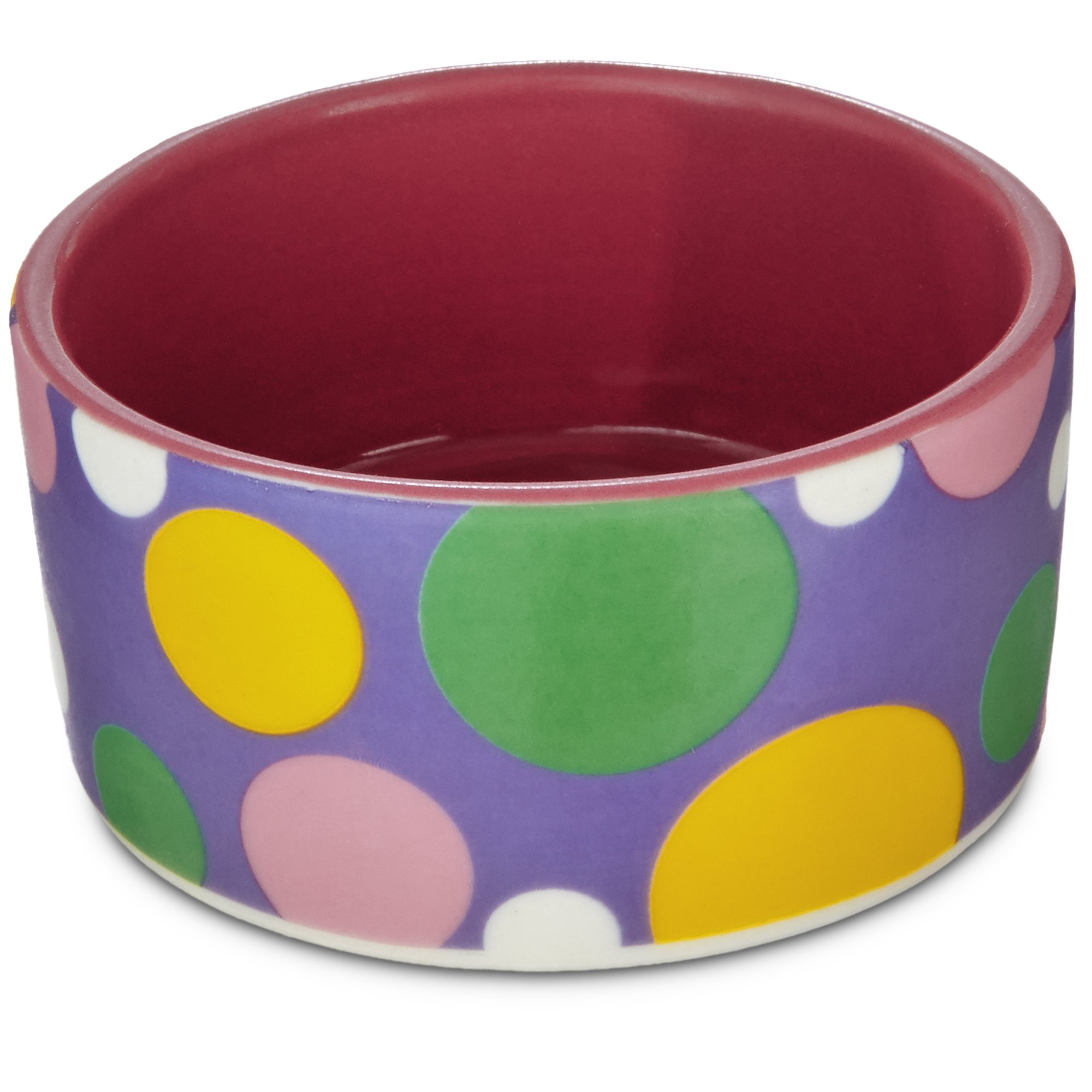 You & Me Pink Polka Dot Dish, Small