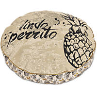 You & Me Pineapple Round Dog Bed