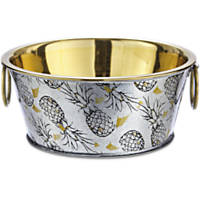 You & Me Gold Pineapple Dog Bowl