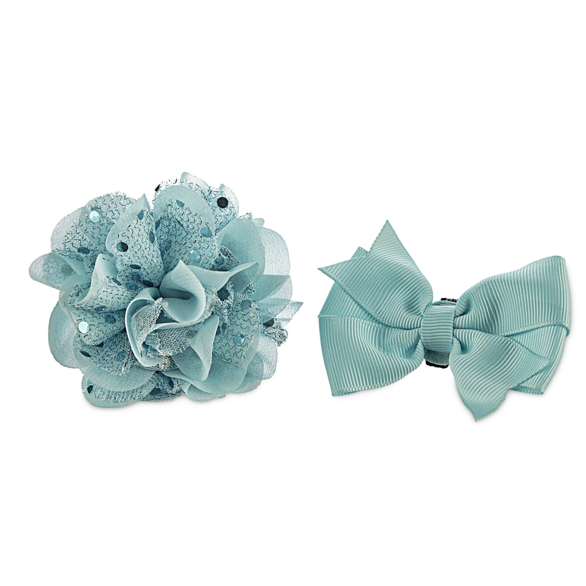 Bond & Co. Blue Flower Bow 2 Pack