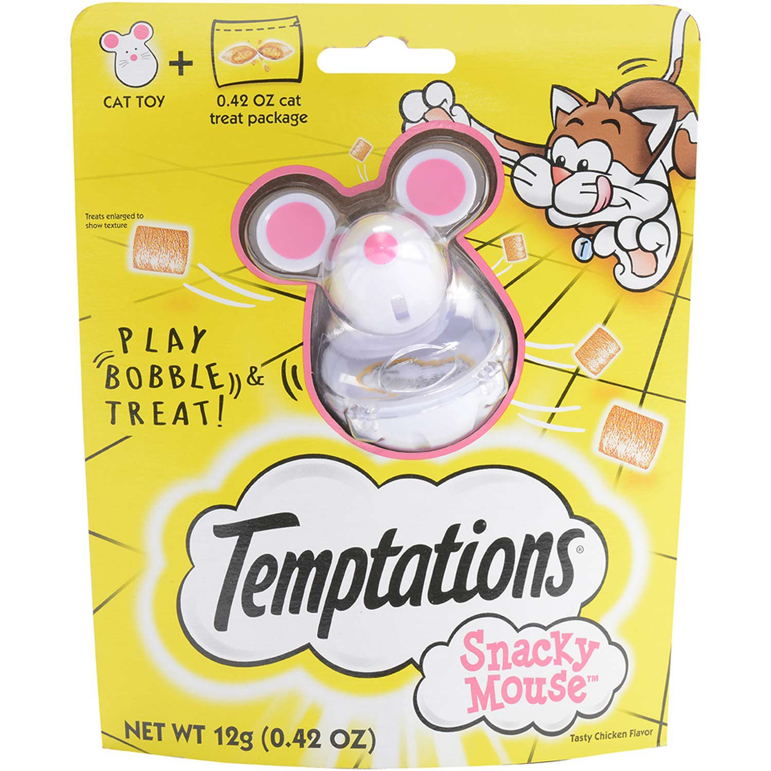 Whiskas Temptations Snacky Mouse Cat Toy & Treat Dispenser