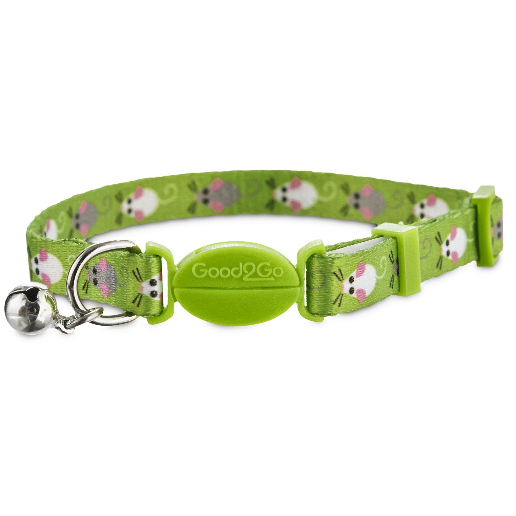 Good2Go Green Mouse Print Cat Collar