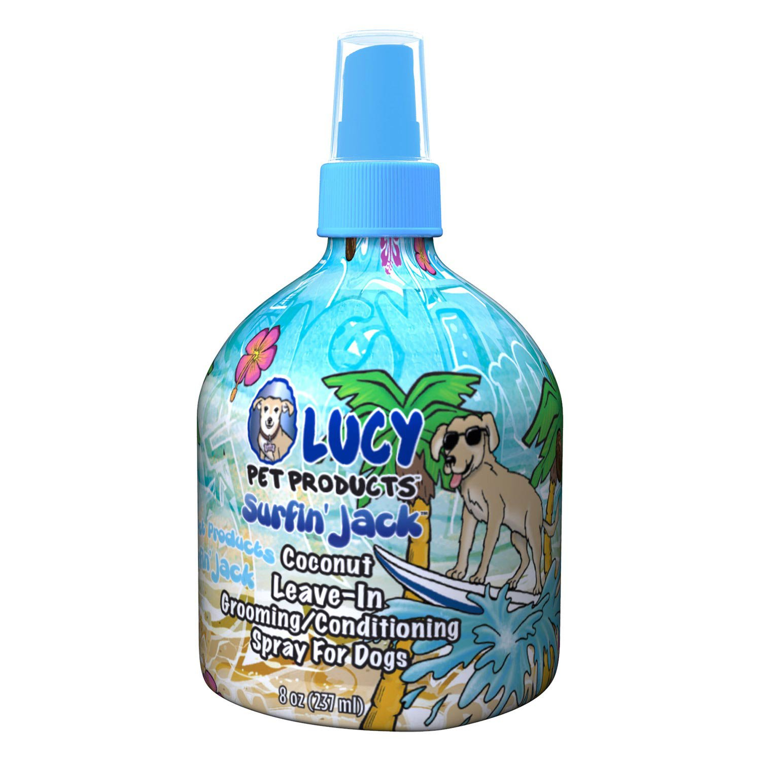 Lucy Pet Products Surfin  Jack Coconut Leave-In Conditioning Dog Spray