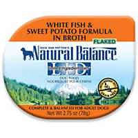 Natural Balance L.I.D. White Fish & Sweet Potato Formula in Broth Dog Food, 2.75 oz., Case of 24
