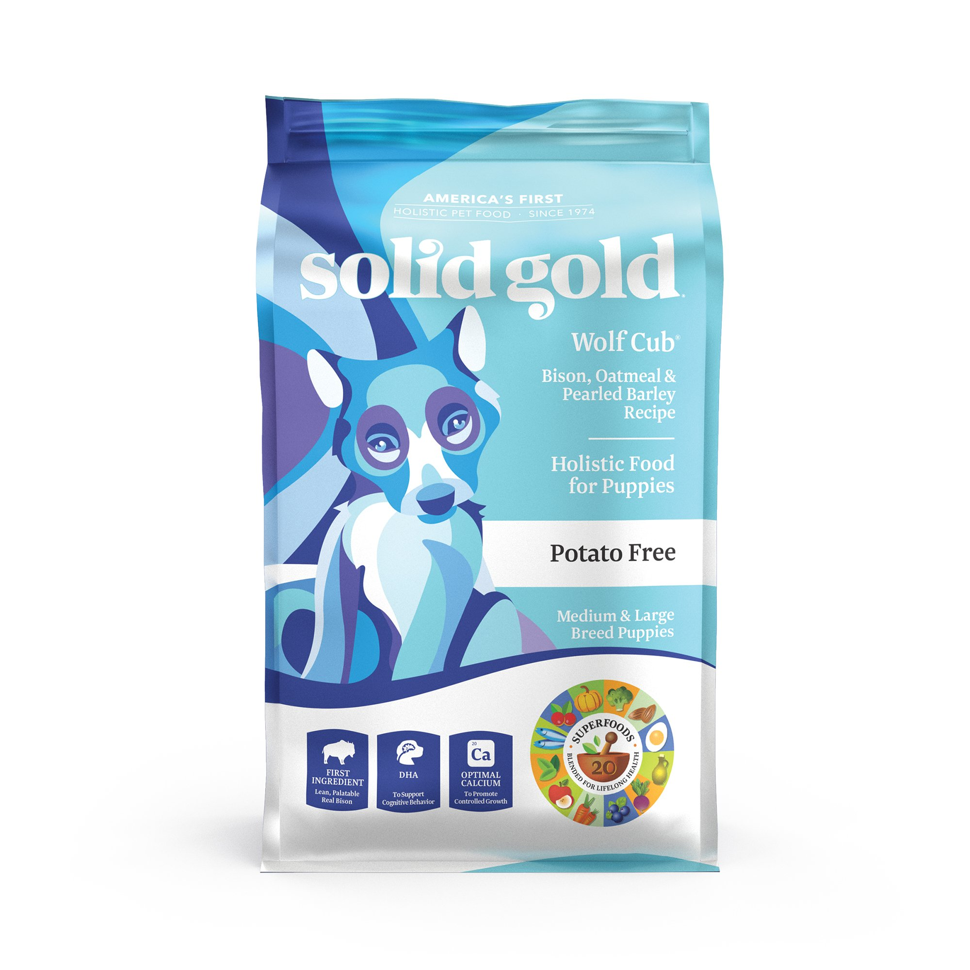 Solid Gold Wolf Cub Bison & Oatmeal Puppy Food