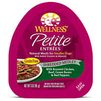 Wellness Small Breed Natural Petite Entrees Chicken & Beef Dog Food Trays
